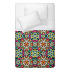 Jewel Tiles Kaleidoscope Duvet Cover (single Size) by WolfepawFractals