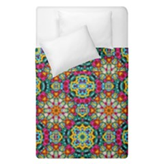 Jewel Tiles Kaleidoscope Duvet Cover Double Side (single Size) by WolfepawFractals