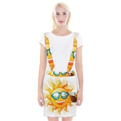 Cartoon Sun Braces Suspender Skirt by LimeGreenFlamingo