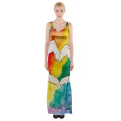 Pride Love Maxi Thigh Split Dress by LimeGreenFlamingo