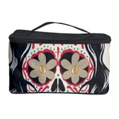Woman Sugar Skull Cosmetic Storage Case by LimeGreenFlamingo