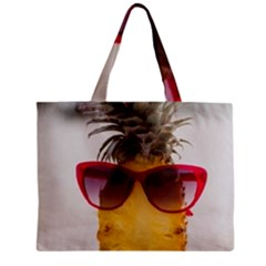 Pineapple With Sunglasses Zipper Mini Tote Bag by LimeGreenFlamingo