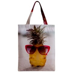 Pineapple With Sunglasses Zipper Classic Tote Bag by LimeGreenFlamingo