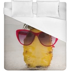 Pineapple With Sunglasses Duvet Cover (king Size)