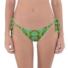 Flowers In Mind In Happy Soft Summer Time Reversible Bikini Bottom