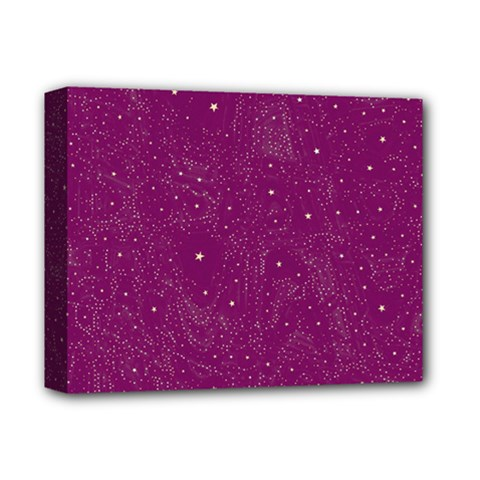 Awesome Allover Stars 01e Deluxe Canvas 14  X 11  by MoreColorsinLife