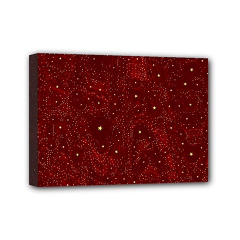 Awesome Allover Stars 01a Mini Canvas 7  X 5  by MoreColorsinLife