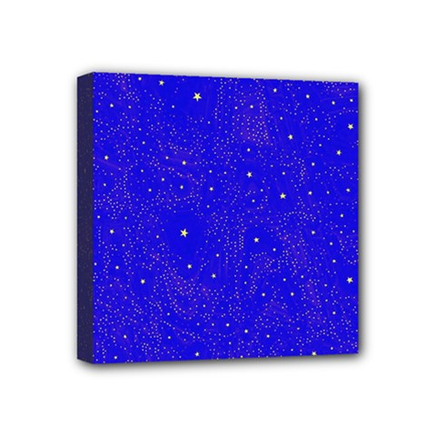 Awesome Allover Stars 01f Mini Canvas 4  X 4  by MoreColorsinLife