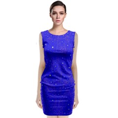 Awesome Allover Stars 01f Sleeveless Velvet Midi Dress by MoreColorsinLife