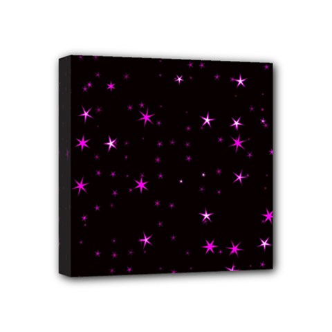 Awesome Allover Stars 02d Mini Canvas 4  X 4  by MoreColorsinLife