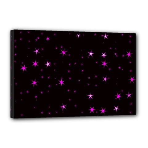 Awesome Allover Stars 02d Canvas 18  X 12  by MoreColorsinLife