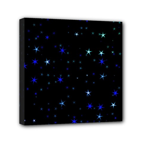Awesome Allover Stars 02 Mini Canvas 6  X 6  by MoreColorsinLife