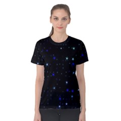 Awesome Allover Stars 02 Women s Cotton Tee by MoreColorsinLife