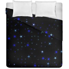 Awesome Allover Stars 02 Duvet Cover Double Side (california King Size) by MoreColorsinLife
