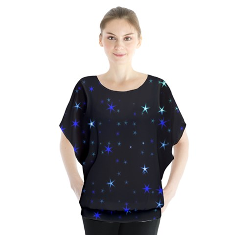 Awesome Allover Stars 02 Blouse by MoreColorsinLife