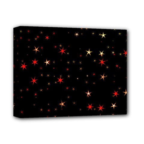 Awesome Allover Stars 02b Deluxe Canvas 14  X 11  by MoreColorsinLife