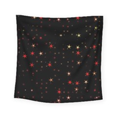 Awesome Allover Stars 02b Square Tapestry (small) by MoreColorsinLife