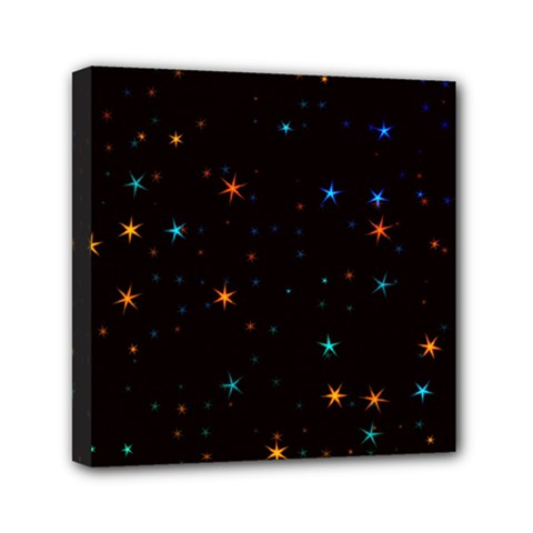 Awesome Allover Stars 02e Mini Canvas 6  X 6  by MoreColorsinLife