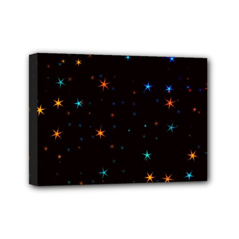 Awesome Allover Stars 02e Mini Canvas 7  X 5  by MoreColorsinLife