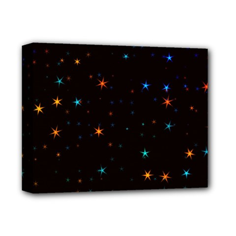 Awesome Allover Stars 02e Deluxe Canvas 14  X 11  by MoreColorsinLife