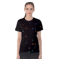 Awesome Allover Stars 02e Women s Cotton Tee by MoreColorsinLife