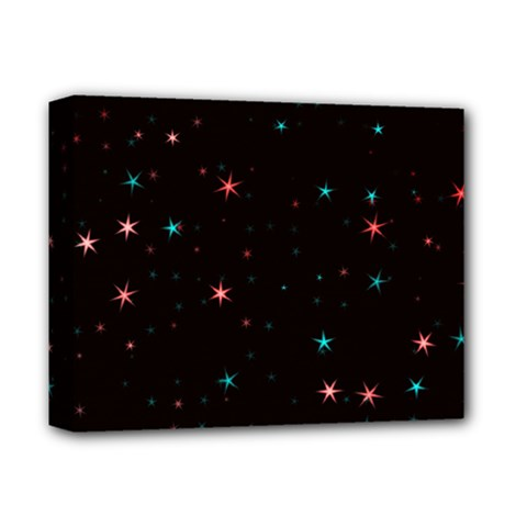 Awesome Allover Stars 02f Deluxe Canvas 14  X 11  by MoreColorsinLife