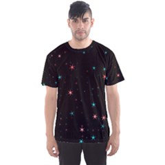 Awesome Allover Stars 02f Men s Sports Mesh Tee by MoreColorsinLife