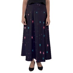 Awesome Allover Stars 02f Flared Maxi Skirt