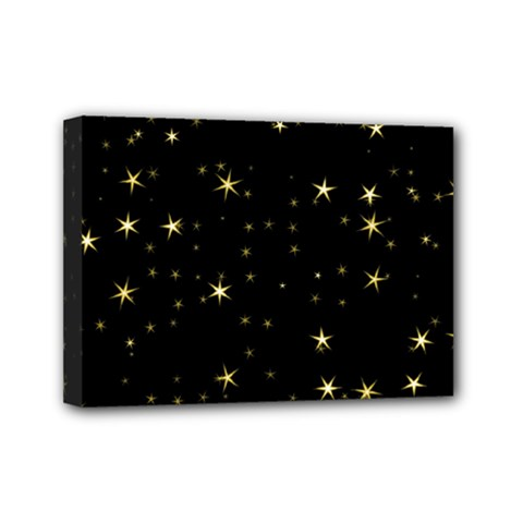 Awesome Allover Stars 02a Mini Canvas 7  X 5  by MoreColorsinLife
