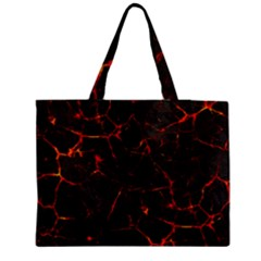 Volcanic Textures Medium Zipper Tote Bag by BangZart