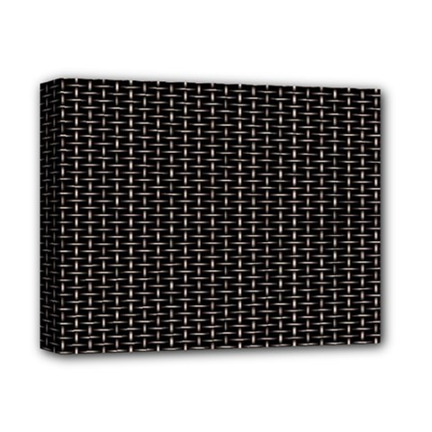 Dark Black Mesh Patterns Deluxe Canvas 14  X 11  by BangZart