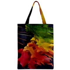 Green Yellow Red Maple Leaf Zipper Classic Tote Bag by BangZart