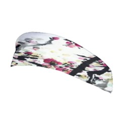 Pink Flower Ink Painting Art Stretchable Headband