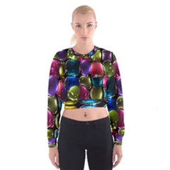 Stained Glass Cropped Sweatshirt by BangZart