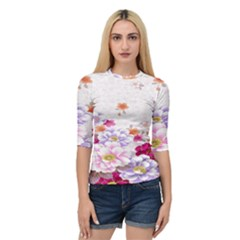Sweet Flowers Quarter Sleeve Tee by BangZart