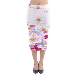 Sweet Flowers Midi Pencil Skirt by BangZart