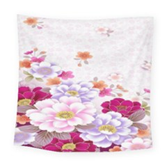 Sweet Flowers Square Tapestry (large)