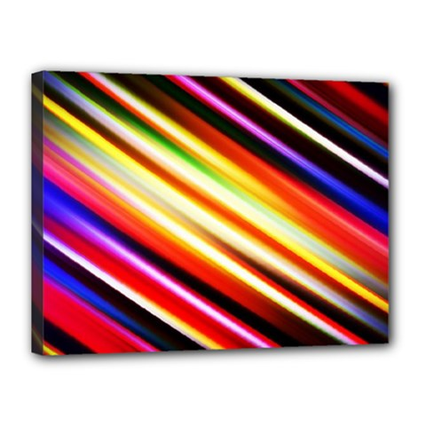 Funky Color Lines Canvas 16  X 12  by BangZart