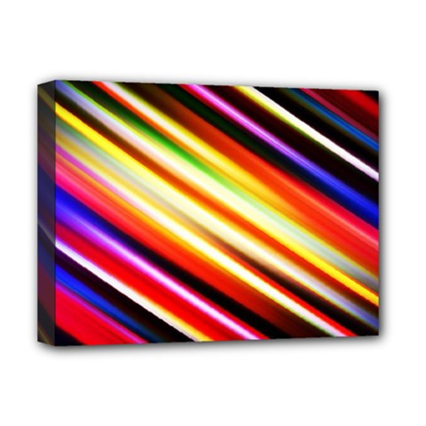 Funky Color Lines Deluxe Canvas 16  X 12   by BangZart