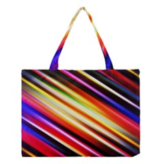 Funky Color Lines Medium Tote Bag by BangZart