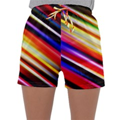 Funky Color Lines Sleepwear Shorts