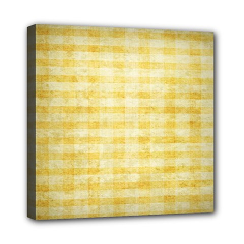 Spring Yellow Gingham Mini Canvas 8  X 8