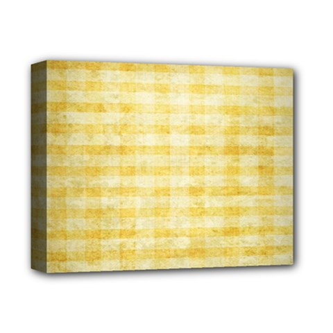 Spring Yellow Gingham Deluxe Canvas 14  X 11  by BangZart