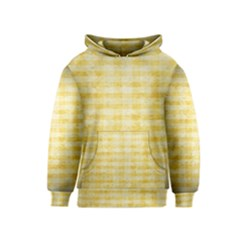 Spring Yellow Gingham Kids  Pullover Hoodie by BangZart