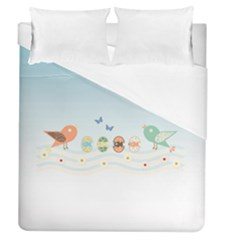 Cute Birds Duvet Cover (queen Size) by linceazul