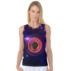 The Little Astronaut On A Tiny Fractal Planet Women s Basketball Tank Top by jayaprime