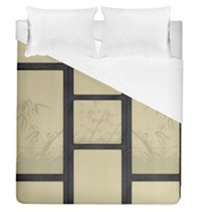 Tatami   Bamboo Duvet Cover (queen Size) by RespawnLARPer