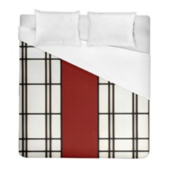 Shoji - Red Duvet Cover (full/ Double Size) by RespawnLARPer