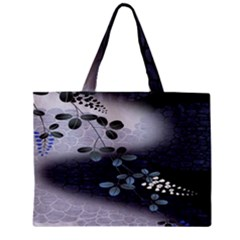 Abstract Black And Gray Tree Zipper Mini Tote Bag by BangZart
