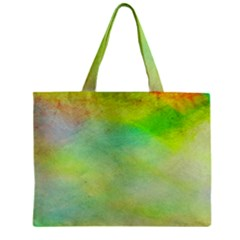 Abstract Yellow Green Oil Zipper Mini Tote Bag by BangZart